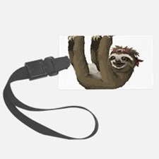 skull sloth Luggage Tag