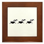 Hopi Mountain Sheep Glyph Framed Tile