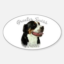 Swissy Mom2 Oval Decal