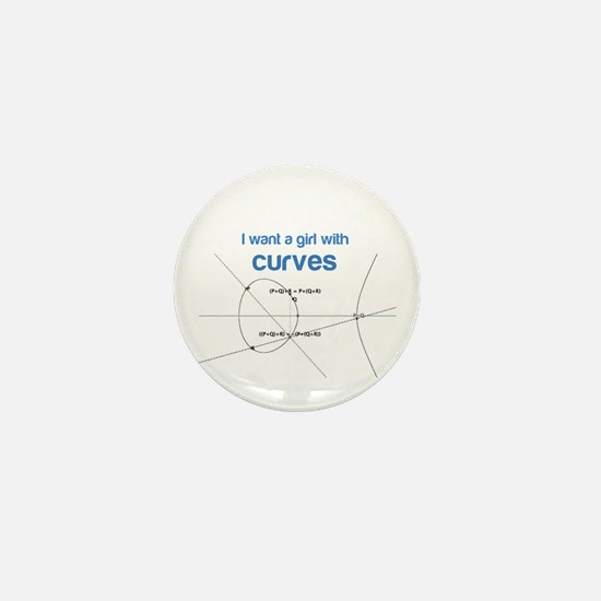 I want a girl with (elliptical) curves Mini Button