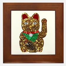 maneki neko cat Framed Tile