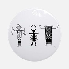 Petroglyph Peoples II Ornament (Round)