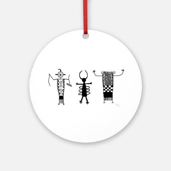 Petroglyph Peoples II Ornament (Round)