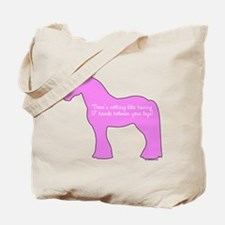 17 hands draft horses. Tote Bag