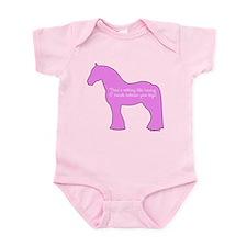 17 hands draft horses. Infant Bodysuit
