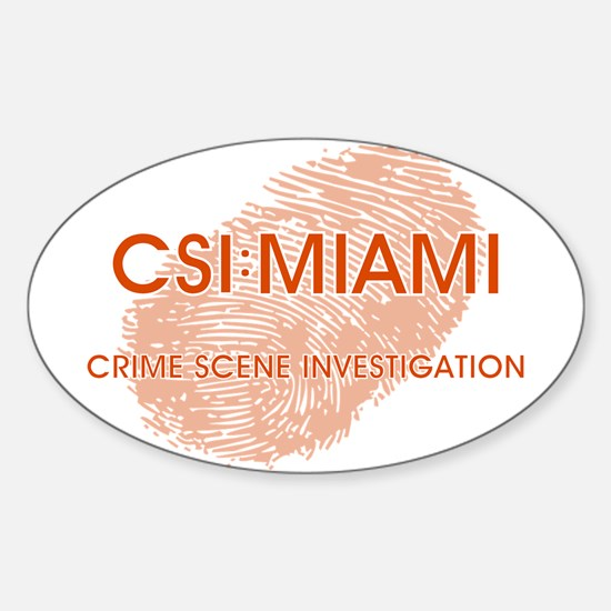 CSI:MIAMI Sticker (Oval)