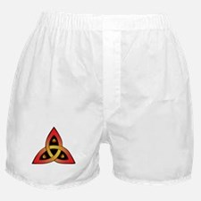 Red and Yellow Celtic Trinity Knot Boxer Shorts