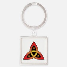 Red And Yellow Celtic Trinity Knot Keychains