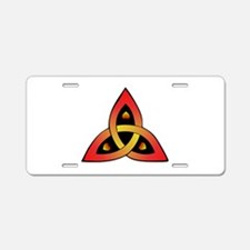 Red And Yellow Celtic Aluminum License Plate