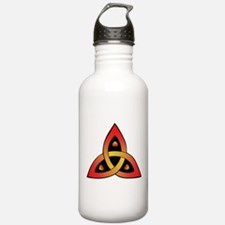 Red and Yellow Celtic Trinity Knot Water Bottle