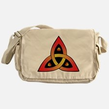 Red and Yellow Celtic Trinity Knot Messenger Bag