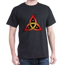Red and Yellow Celtic Trinity Knot T-Shirt