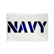 Navy Rectangle Magnet
