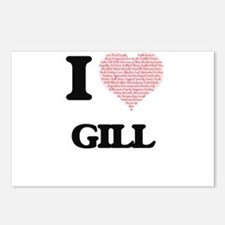 I Love Gill Postcards (Package of 8)