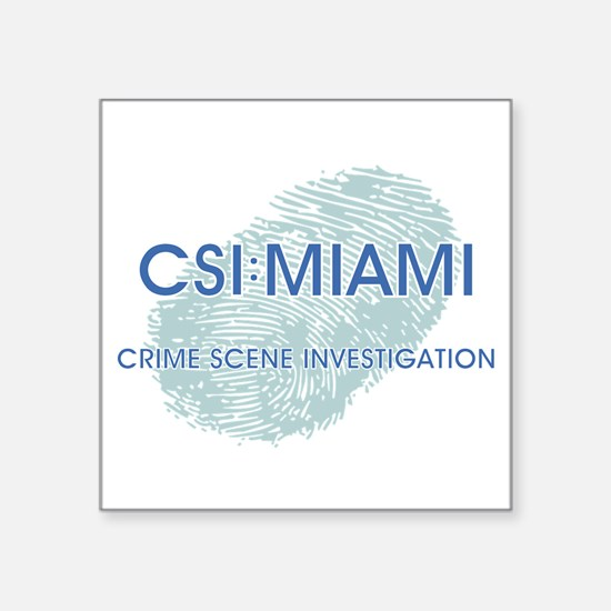 "CSI:MIAMI Square Sticker 3"" x 3"""
