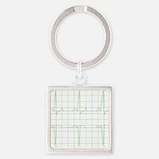Unique Cardio Square Keychain
