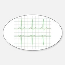 Cute Graph Sticker (Oval)