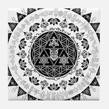 Reverse Everything Mandala Tile Coaster