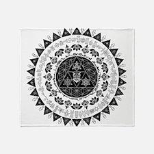Reverse Everything Mandala Throw Blanket