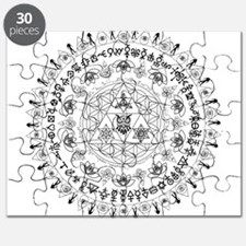 Everything Mandala - 3rd eye, owl, triangle, lotus