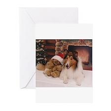 Cute Teddy santa Greeting Cards (Pk of 20)