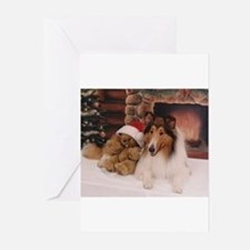 Cute Collie christmas Greeting Cards (Pk of 20)