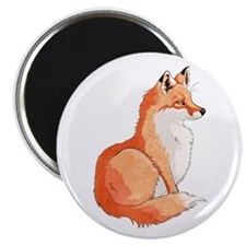 """Sitting Fox 2.25"""" Magnets (10 Pack)"""
