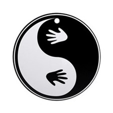 Yin Yang Hands Ornament (Round)