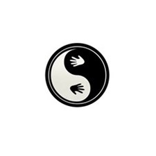 Yin Yang Hands Mini Button