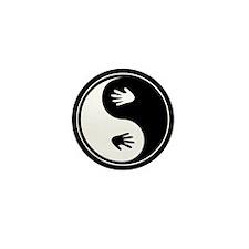 Yin Yang Hands Mini Button (10 pack)