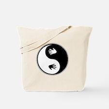 Yin Yang Hands Tote Bag