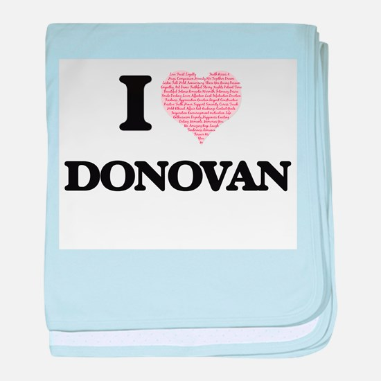 I Love Donovan baby blanket