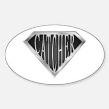 SuperCatcher(metal) Oval Decal