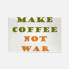 Make Coffee Not War Rectangle Magnet