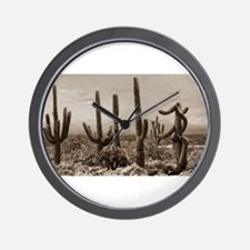 Stormy Winter in the Desert Wall Clock