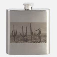 Stormy Winter in the Desert Flask