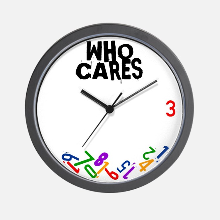 Who cares falling numbers wall clock Wall Clock
