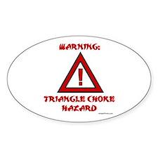 TRIANGLE CHOKE HAZARD Oval Decal