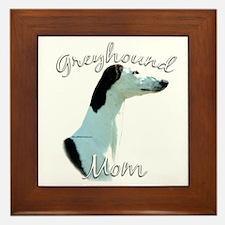 Greyhound Mom2 Framed Tile