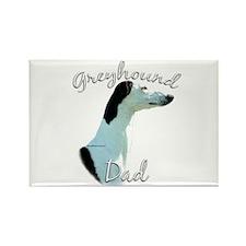 Greyhound Dads2 Rectangle Magnet