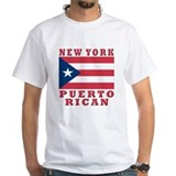 Puerto rican Mens White T-shirts