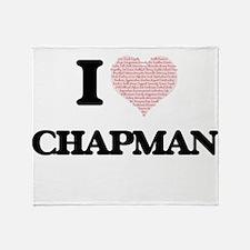I Love Chapman Throw Blanket