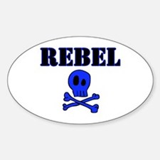 Rebel Oval Decal