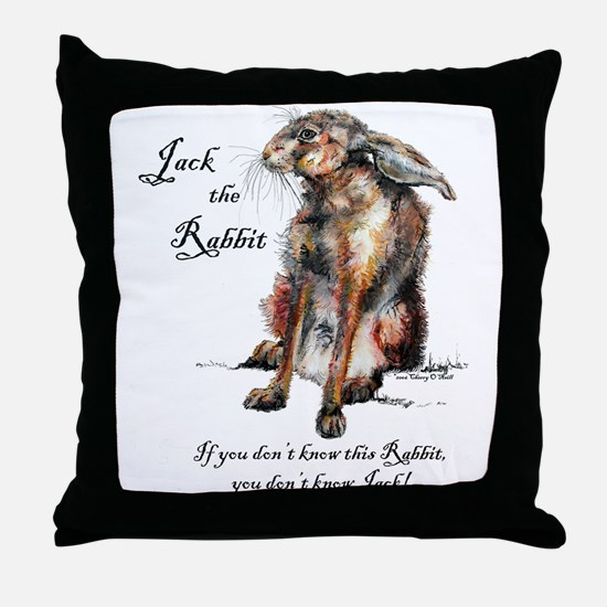 Jack the Rabbit 1 Throw Pillow