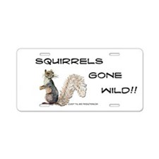 Wild Squirrel Aluminum License Plate