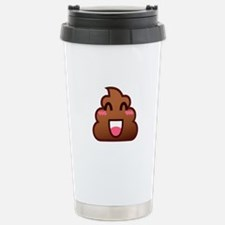 kawaii poop emoji Travel Mug
