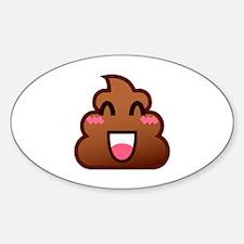 kawaii poop emoji Decal