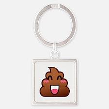 kawaii poop emoji Keychains