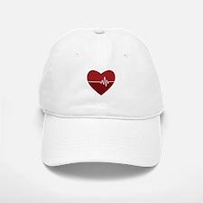Heartbeat Baseball Baseball Baseball Cap
