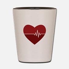 Heartbeat Shot Glass